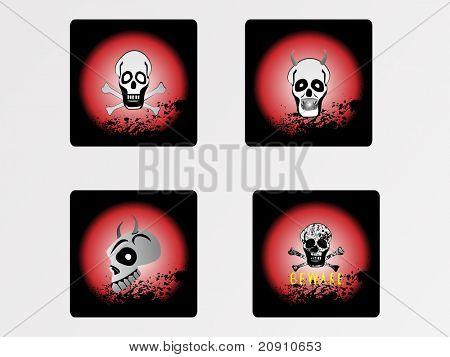 halloween icons set, vector wallpaper