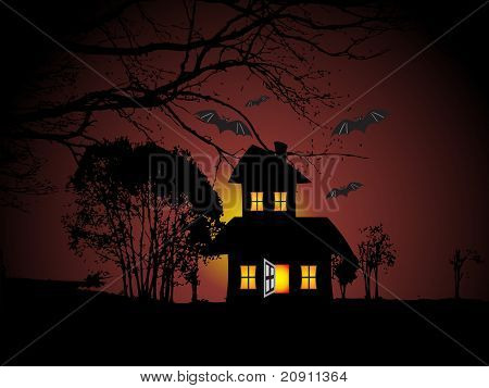 illustration of halloween background series set
