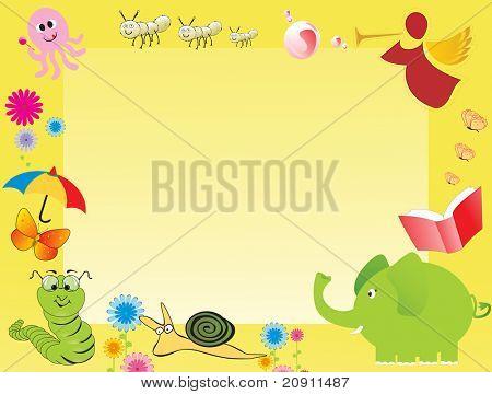 abstract frame for kid, illustration