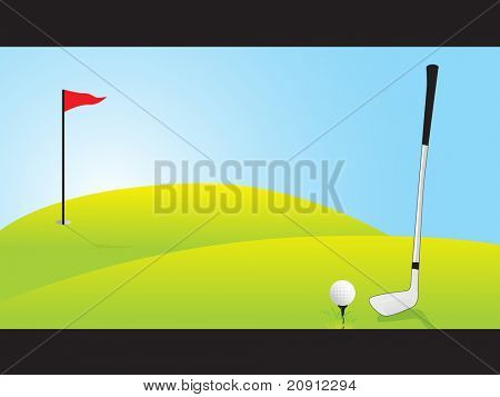 golf ground, vector illustration