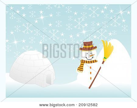 Winter Schneeflocken Hintergrund, Abbildung