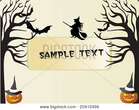 illustration, halloween background series with place for text, design