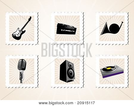 abstract design musical instrument, vector illustration