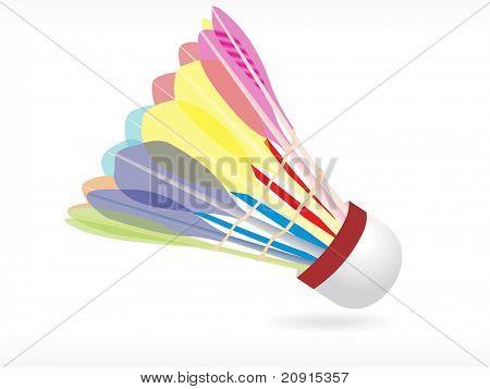 Abstract vector shuttlecock, wallpaper