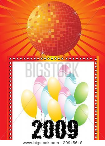 new year greeting pattern, vector illustration