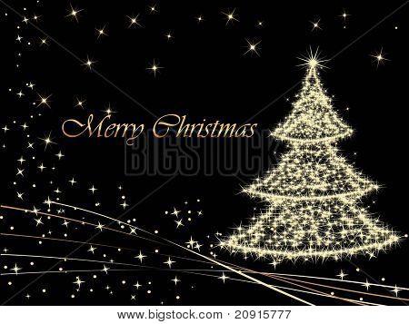 christmas light in tree shape, wallpaper