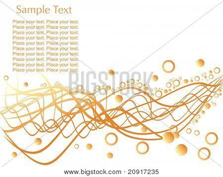 zufällige Wellen mit Kreisen und Beispiel-Text auf weißem Hintergrund, wallpaper