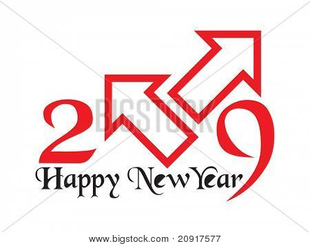 new year 2009, vector illustration