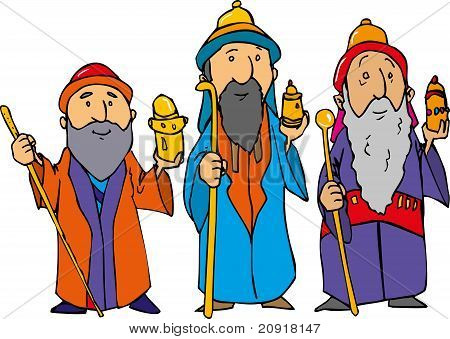Cartoon Of The Three Wise Men