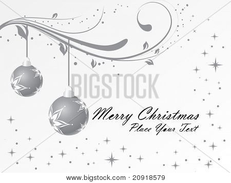 christmas bulbs with floral ornaments, illustration