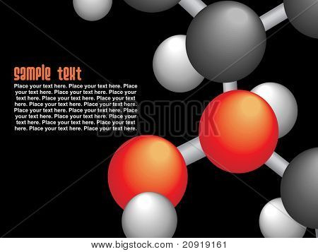 group of molecule isolated on black, vector illustration