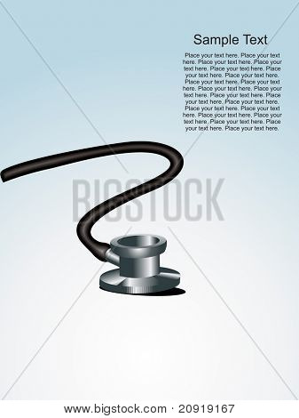 vector illustration, stethoscope isolated on blue