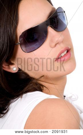 Beautiful Fashion Girl With Sunglasses