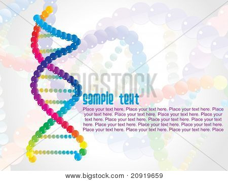 DNA background, vector illustration