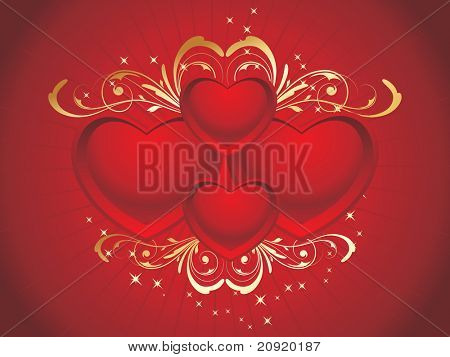 romantic red heart-shape background