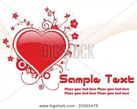 red valentine banner, vector illustration