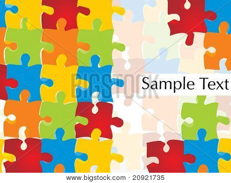 beautiful, colorful join puzzle background