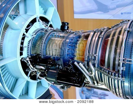 der Motor des Flugzeug