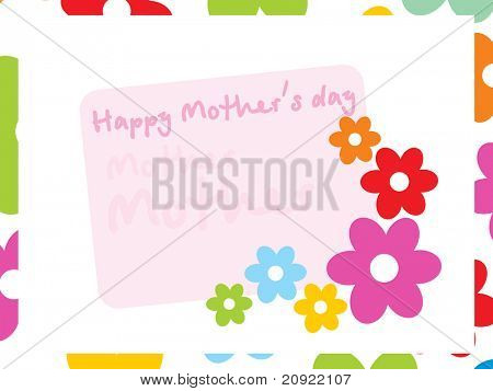lovely ornament colorful flower card for mother day celebration
