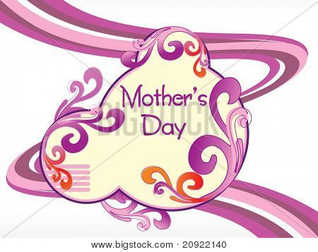 artistic and creative design mother day background with stripes line background