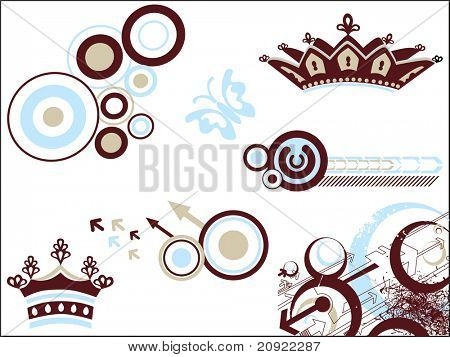 Abstract pattern background with vector