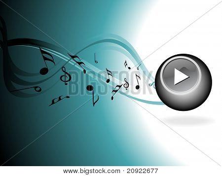 fondo musical abstracta seagreen