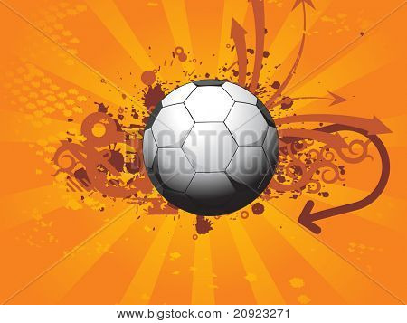 brown grunge and arrow head football, vector illustration