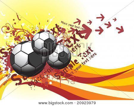 Futebol de seta sujo, com listras e lugar para texto