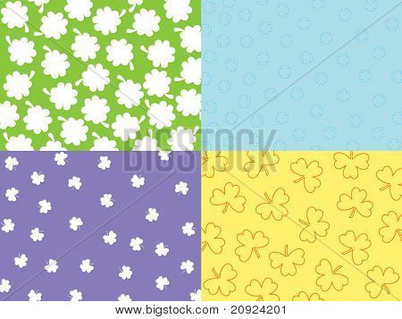 abstract seamless shamrock with background, vector concept