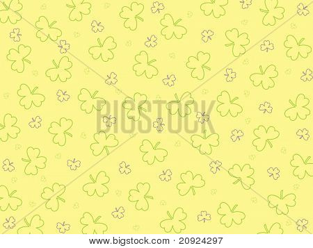 yellow background with seamless shamrock