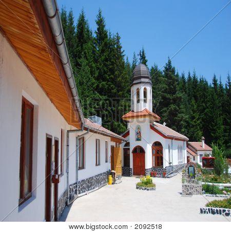 Mountain Monestary In Bulgaria