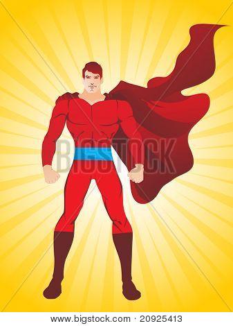 fondo abstracto de rayos con superman