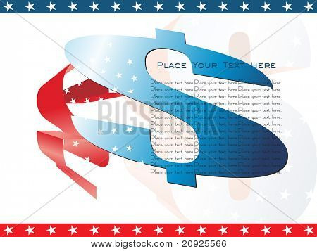 abstract us independence day background with decorated s
