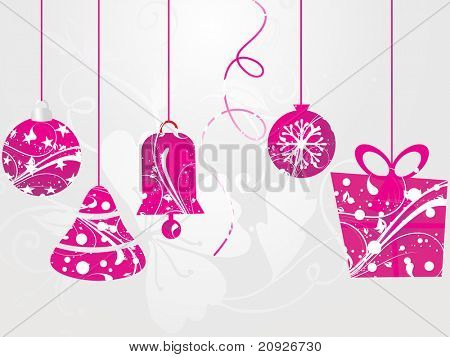 Hintergrund der nahtlose künstlerische mit hängenden Weihnachts-icons