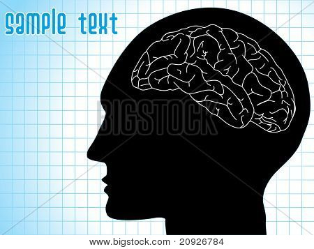 medical background with human brain, vector illustration