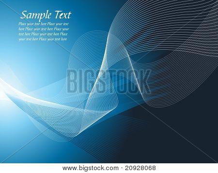 Vector illustratie abstracte achtergrond gemaakt van blauwe golven