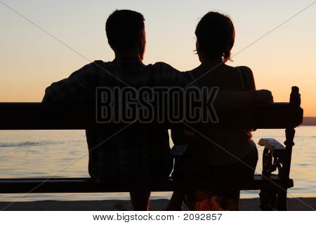 Couple In The Sunset