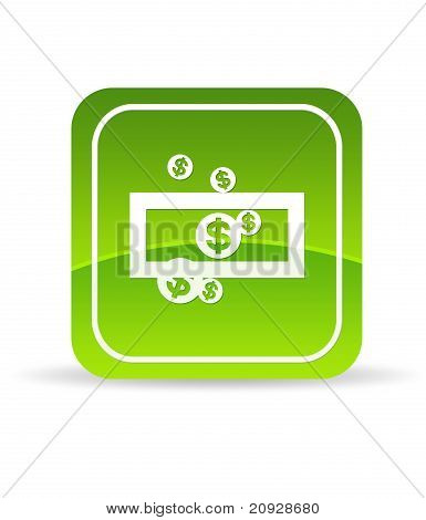 Green Save Money Icon
