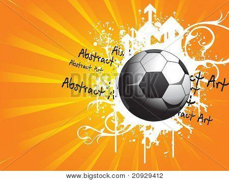 abstrato base de raios enferrujado com futebol sujo e ponta de seta