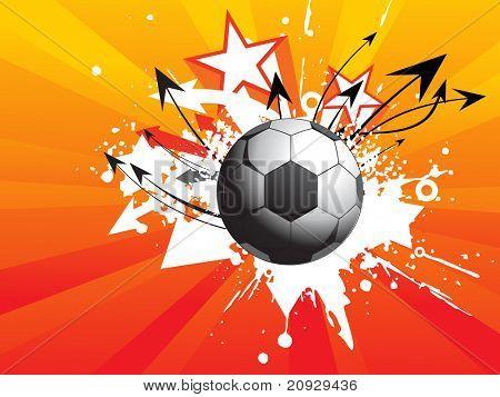 fundo abstrato raios com futebol sujo, ilustração de seta curva