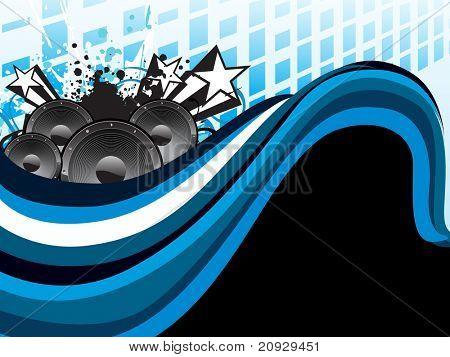 Resumen fondo de rayas con vinilo Grunge y estrellas