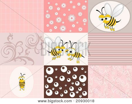 abstract funky pattern background, vector illustration