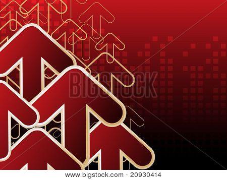 fundo de ponta de seta vermelha, vetor papel de parede