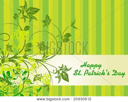 patrick day background with swirl design