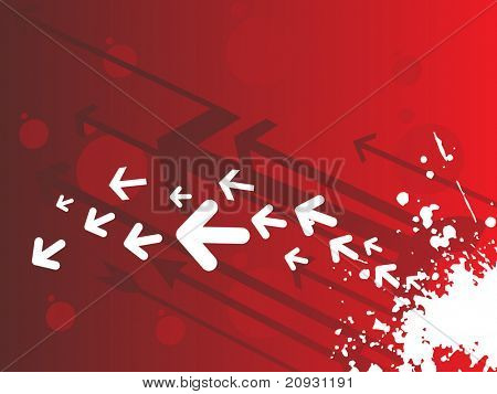abstract grunge background with many arrows