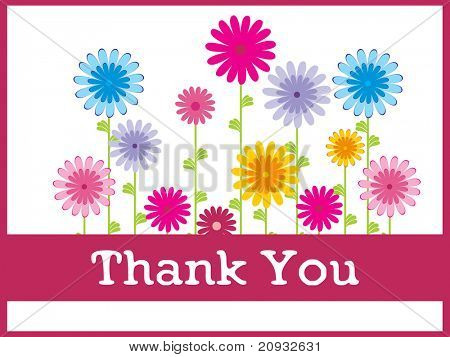 abstract floral background with gratitude, design