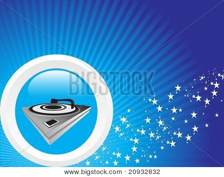 musical background with turntable, vector wallpaper