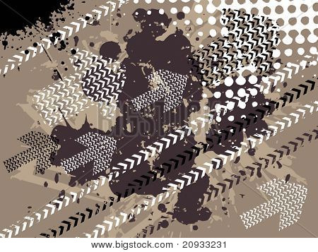 abstract dirty background with arrow and dots