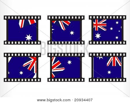 white background with set of australia flag
