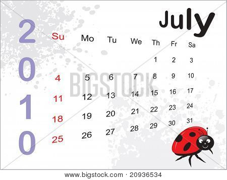 abstract dirty grunge background with cute insect pattern calender for 2010